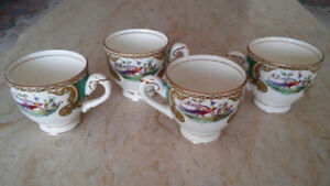 Collectible antique Myott (England) four cups porcelain