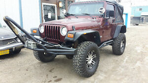 !!!! LOW KM  2002 Jeep TJ KUSTOM FOR REAL JEEP PEOPLE ONLY !!!!
