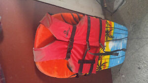 Inflatable tube/life jacket/board