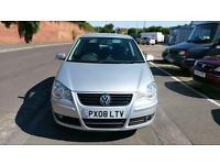VOLKSWAGEN POLO 1.4 AUTOMATIC AUTO 5 DOOR MATCH 1 OWNER F.S.H 80000 MILES 2008