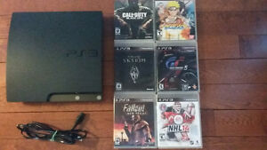 PS3 SLIM 120 G & 6 GAMES