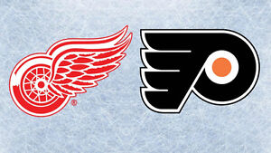 Sunday Dec 11th 5:0 Wings vs Philly  Aisle Seats Great Price !!!