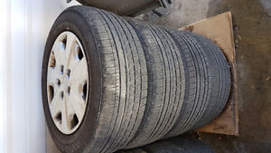 Honda accord tires and rims 205/65/15