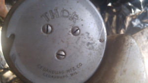 Two vintage outboard motors