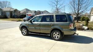 SOLD!! 2006 Honda Pilot EX-L in rare Amazon Green Metallic Color