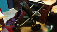 Amethyst Purple and Black City Select double Jogger stroller