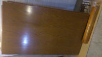 Rectangular Solid Wood Dining Table aprox. 5' x 4'.