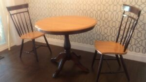 Beautiful 4-piece solid Maple kitchen table, chairs and buffet