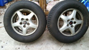 2 Almost new All season tires with Aluminum rims
