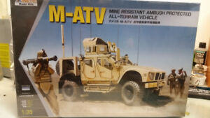 Kinetic 1/35th scale M-ATV military model kit New