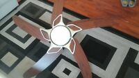 50 inch fan with lighting and remote control, perfect condition