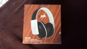 Headphones Polk Audio Buckle  - Black/Silver