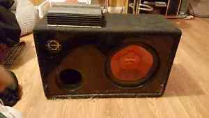 "12 "" inch sub and amp"