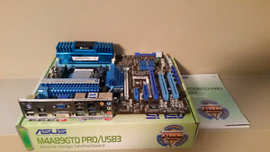 Motherboard, AMD Chip and Ram