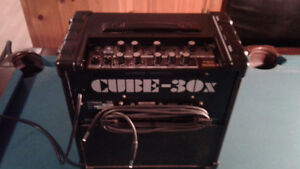 Fender Squire Electric Guitar with Cube 30X ?amp