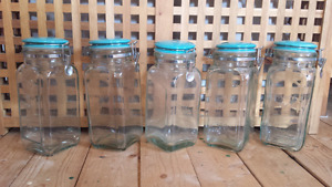 5 Country Style  food deco candy glass containers