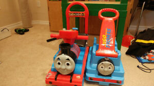 Thomas the train ride on toy and pull cart