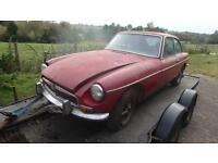 MGB GT 1.8 chrome bumper barn find project or spares collection only shrewsbury
