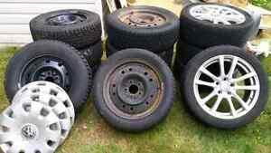 Three sets of tires and rims new prices