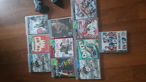 Sony PS3, headset, games.