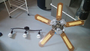 Track light and ceiling fan with lights. Kitchener / Waterloo Kitchener Area image 1