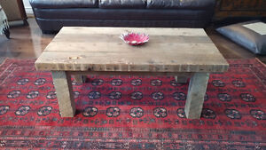 Reclaimed and salvaged solid barn wood coffee table Kitchener / Waterloo Kitchener Area image 1
