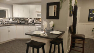 FULLY FURNISHED 2 bedroom suite-private & super clean & quiet!!