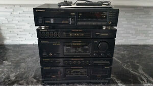 Pioneer receiver, 6 tray CD player and dual cassettes