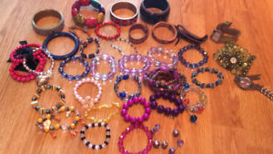 Lot of necklaces and bracelets