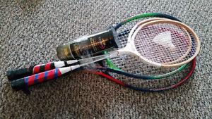 2 Tennis & badminton rackets