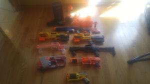 Nerf Guns / Fusils Nerf (avec accessoires)