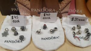 Authentic Pandora Christmas Theme Charms