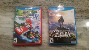 Zelda BOTW and MarioKart 8 Wii U