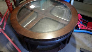 Coffee Table with stools and matching end table