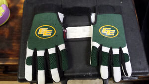 Brand new Edmonton Eskimo gloves