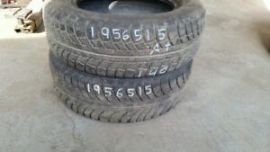 Pair of 2 Gislaved Nord Frost5 195/65R15 WINTER tires (85% tread