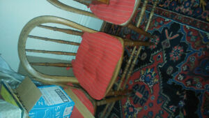 Antique Gunstock style chairs