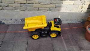 Todldler Tonka Yellow ride on truck