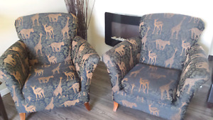 Safari accent chairs
