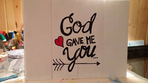 Hand Painted Wood Signs