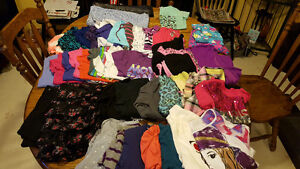 Large lot of girls size 10 clothes