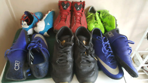 Soccer and basketball shoes