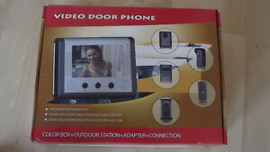 NEW IN BOX - SECURITY 3 ZONE VIDEO DOOR CAM WITH NIGHT VISION