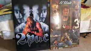 2 Pac, G unit posters great condition OFFER UP
