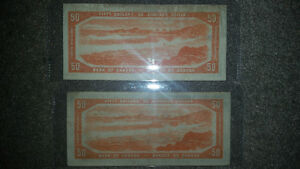 1954 50$ bill only 100$ In good condition for the year........ London Ontario image 2
