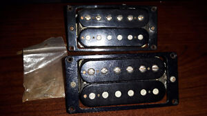 Vintage Gibson 1982 humbucker pickups pair with screws