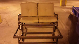 Rocker Loveseat and Table