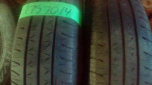 Two pair of 175 70 14 all season tires.