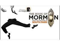 Book of Mormon ticket Thursday October 27th