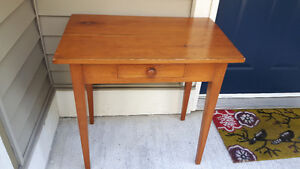 Antique country writing or makeup desk with nice patina